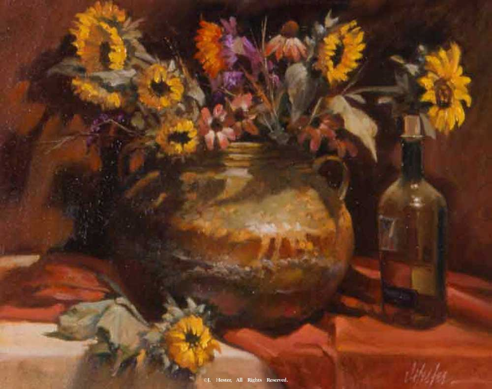 """Black Eyed Susans""<BR>Limited Edition Giclee Print Black-Eyed Susans - Giclee Still Life - Giclee Prints Still Life - Reproductions"