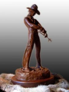 """Brandin""<br>20"" h Limited Edition Bronze Sculpture Brandin Maquetts Monumental Sculpture"