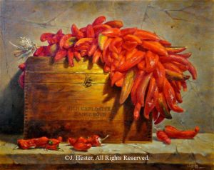 """Caliente ""<BR>24"" x 30"" - Framed Original Oil Painting Caliente - Sold Privately Owned J. Hester Paintings Archive of J. Hester Paintings"