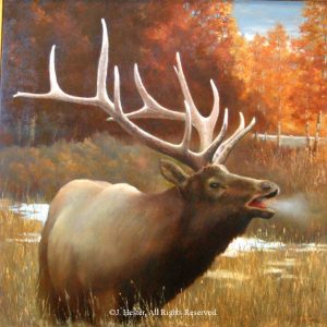 """Call of the Wild""<BR>36"" x 36"" Framed Original Oil Call of the Wild J. Hester Originals Available J. Hester Art"