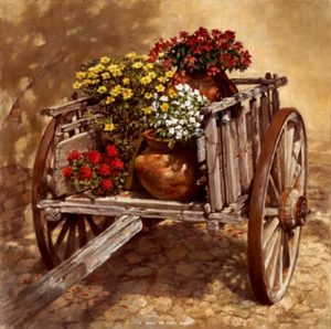 """Carreta de Flores""<BR>Limited Edition Giclee Print Carreta de Flores - Giclee Still Life - Giclee Prints Still Life - Reproductions"