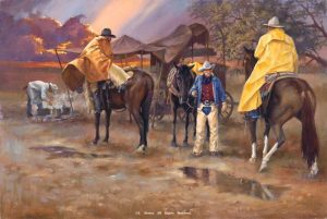 "<B>""Cowboy Oasis""</B><BR>Limited Edition Giclee Print Cowboy Oasis Giclee Prints Reproductions"