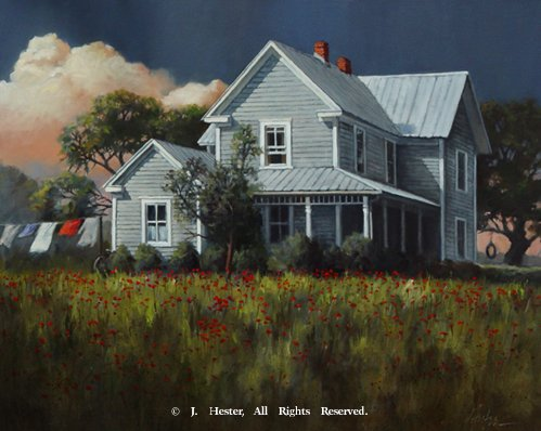 """Home Again""<BR>Limited Edition Giclee Prints Home Again - Giclee Giclee Prints - Landscapes Reproductions - Landscapes"