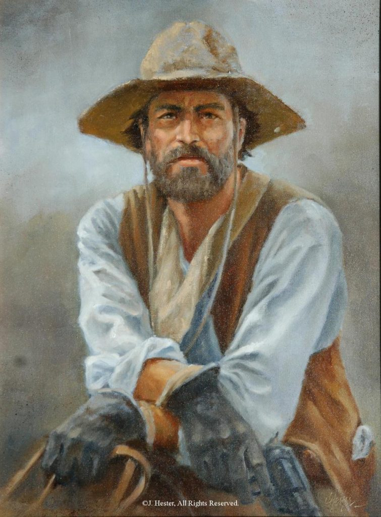 """Jack Hays""<BR>18"" x 24"" - Framed Original Oil Painting Jack Hays - Sold Privately Owned J. Hester Paintings Archive of J. Hester Paintings"