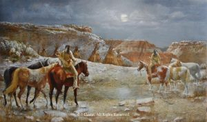 """""""Palo Duro Refuge""""<BR>24"""" x 40"""" Framed Original Oil Palo Duro Refuge J. Hester Originals Available J. Hester Art"""