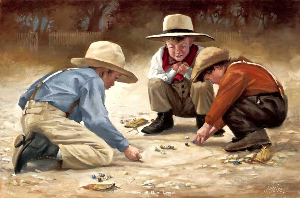 "<B>""Playing for Keeps""</B><BR>Limited Edition Giclee Print Playing for Keeps Giclee Prints Reproductions"