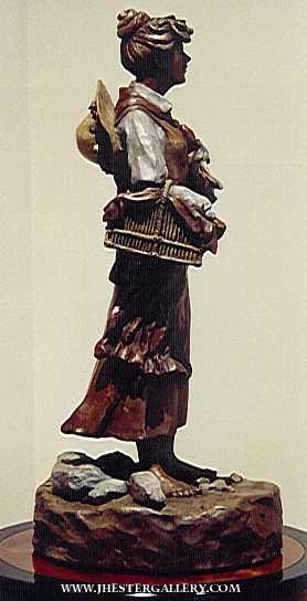 Prairie Woman<BR>Private Commission Prairie Woman Maquetts Monumental Sculpture