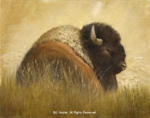 """Pride of the Prairie""<BR>11"" x 14"" - Framed Original Oil Painting Pride of the Prairie - Sold Privately Owned J. Hester Paintings Archive of J. Hester Paintings"