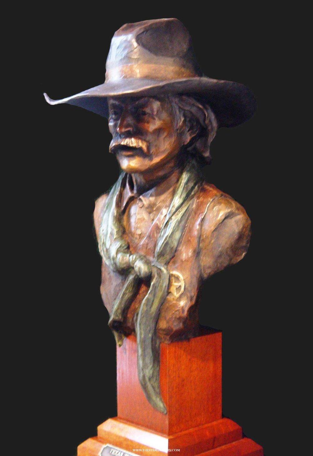 """Texas Tuff""<br>24"" h Limited Edition Bronze Sculpture Texas Tuff Maquetts Monumental Sculpture"