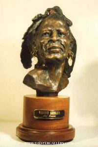 """Vision Seeker""<br>13""h Limited Edition Bronze Sculpture Vision Seeker Maquetts Monumental Sculpture"