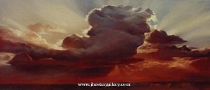 "Breathtaking Beauty<BR> A gorgeous sunset captured in vivid oils. The actual size of this commission was <BR>48"" X 108"". West Texas Sunset - Commission Commissions Custom Paintings"