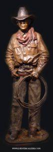 "Wrangler <br>4"" h Limited Edition Bronze Sculpture"