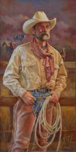 """Wrangler"" - 36 ""x 18"" Original Painting by J Hester."
