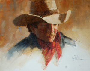 """Waitin' for the Gate"" 11'' x 14'' Original Oil Painting by Artist J. Hester"
