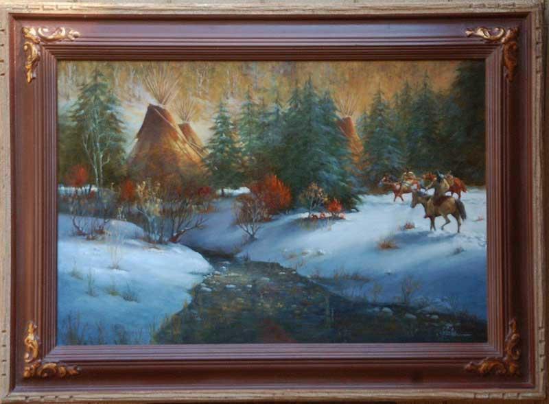 """Winter's Bounty"" 24"" x 36"" Original Oil by J. Hester Gallery"