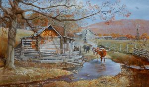 """Homestead"" Original Oil 24'' x 40"" by J.Hester"