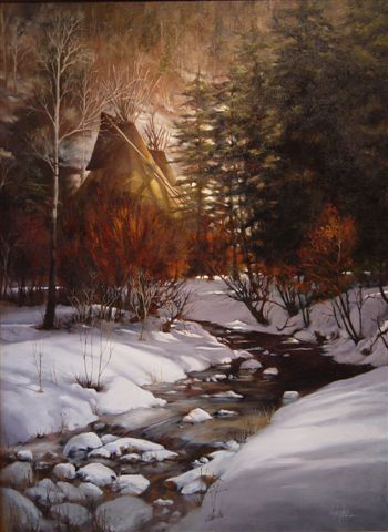 """""""Shades of Winter"""" - Original Oil by J.Hester"""