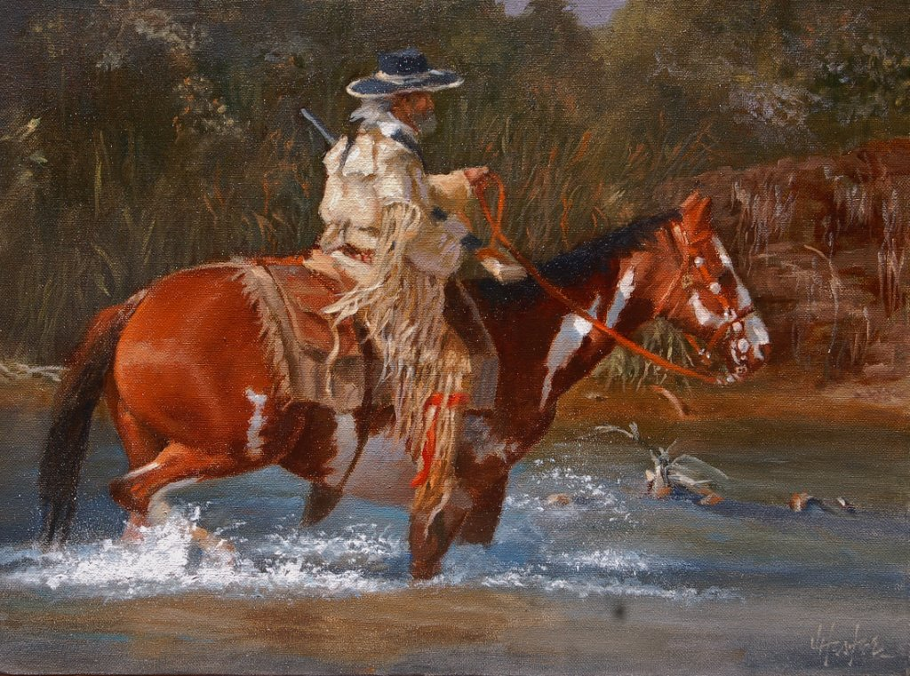 """Tracker"" by J. Hester Original Oil on Canvas 12'' x 16''"