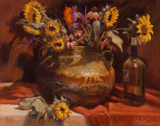 """""""Black-Eyed Susans"""" by J. Hester Limited Edition Giclee"""