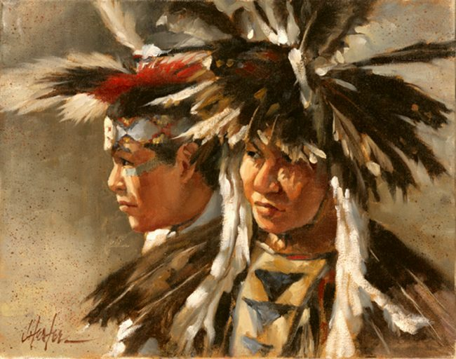 """""""Tribal Pride"""" by J. Hester 11"""" x 14"""" - L/E Giclee"""