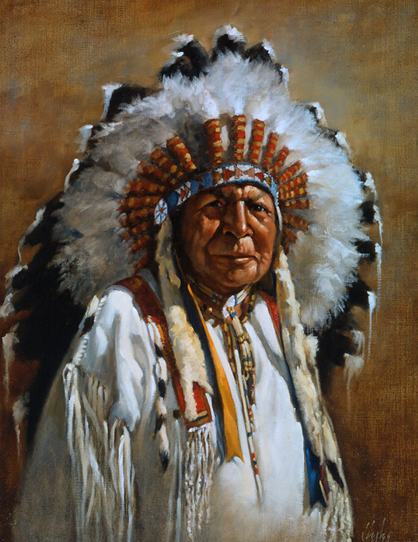 """Chief Bald Eagle"" by J. Hester"
